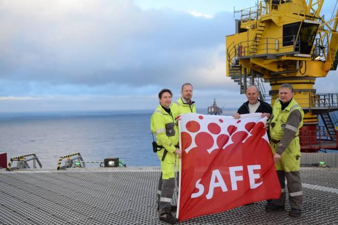 Gullfaks C SAFE flagg