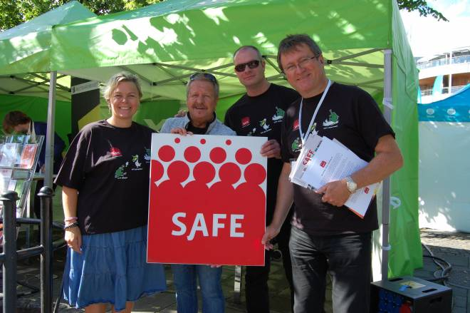 Fra SAFEs stand under Arendalsuka i 2015