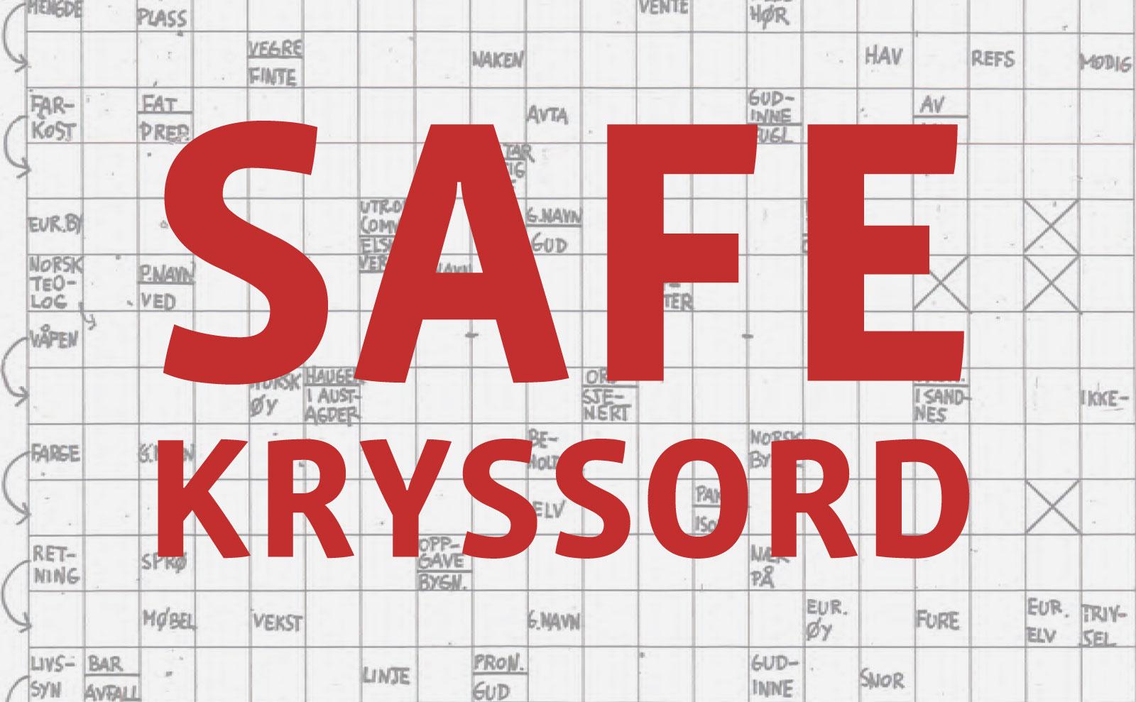 Illustrasjon for SAFE Kryssord