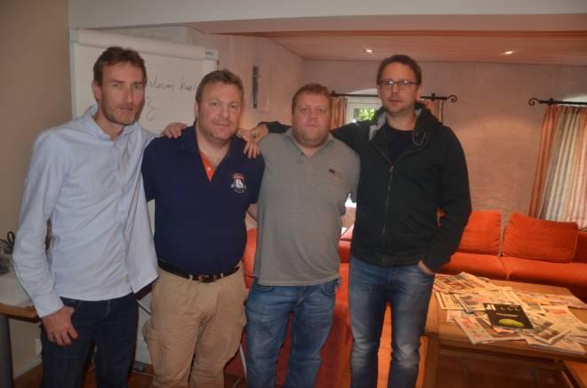 Fra venstre: Hogne Hole, Jens Hermansson, Christian Jørgensen og Tomasz Czernlachowicz.
