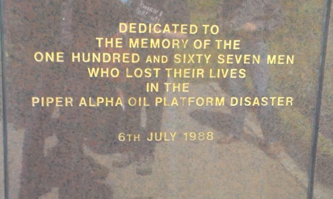 Piper Alpha, minnestein. Foto John Håkon Larsen