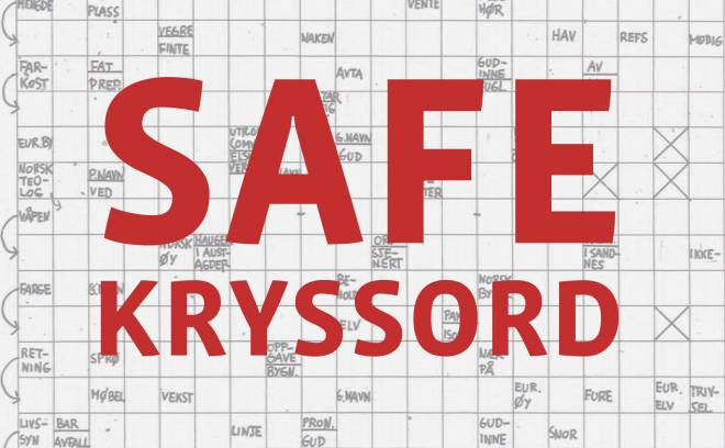 Illustrasjonsbilde for SAFE Kryssord