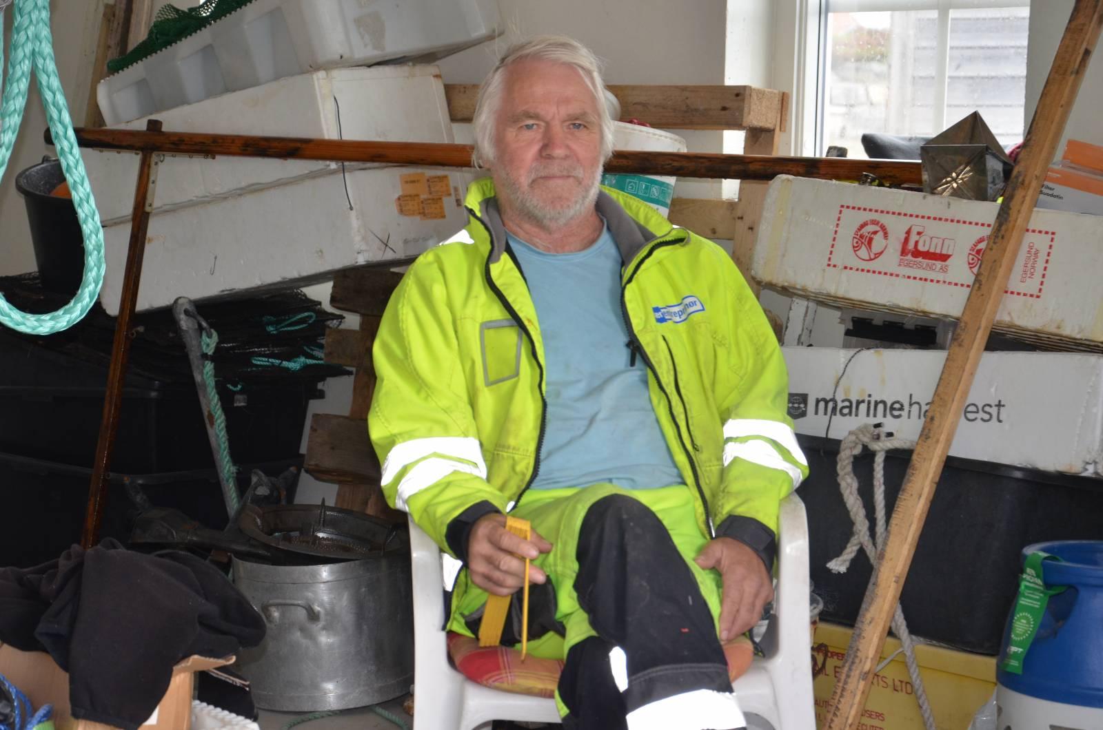 Fiskekamerater: Bjørn Vante øverst, John Slettebø og Oddleiv Tønnessen under.
