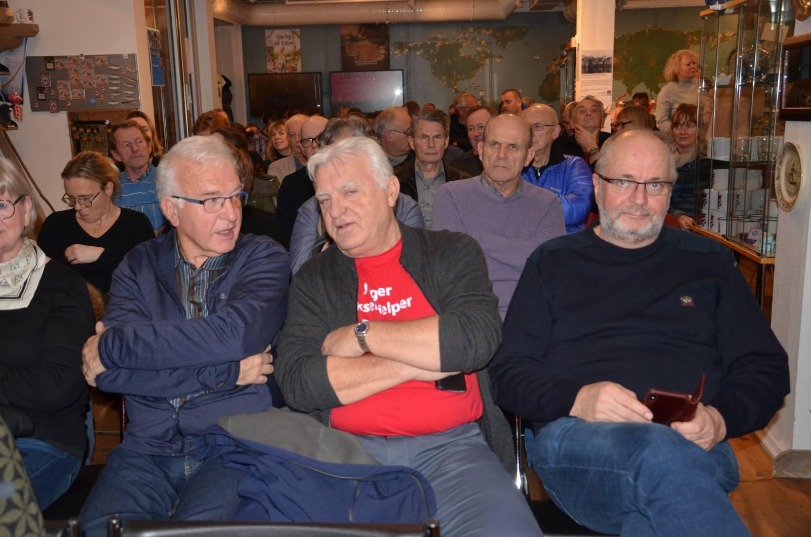 Fra et fullstappet foredrag på Stavanger maritime museum 9. januar 2020, hvor Marie Smith-Solbakken beskrev de 18 minuttene det tok før Alexander Kielland forsvant i havet. Foto: Mette Møllerop
