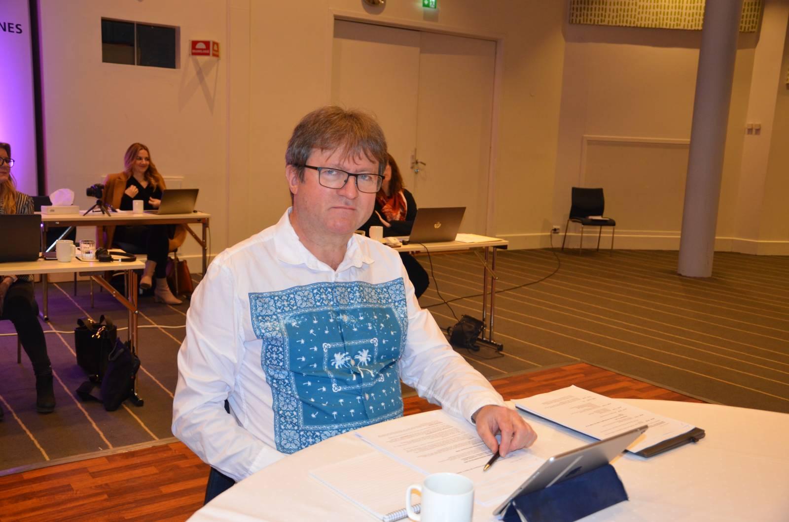 Kongressen del 1, Roy Erling Furres siste før pensjonisttilværelsen venter. Foto: Mette Møllerop