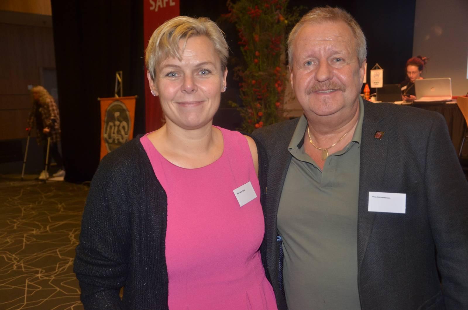 Kongressen i jubileumsåret. Leder og nestleder, Hilde-Marit Rysst og Roy Aleksandersen.